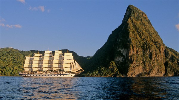 Royal Clipper And Pitons