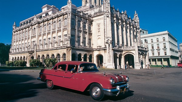 Driving through Havana