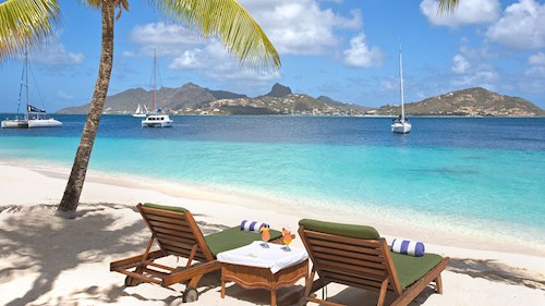 Palm Island Resort & Spa, The Grenadines - Beach View
