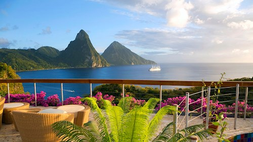 Jade Mountain Saint Lucia - View to the Pitons