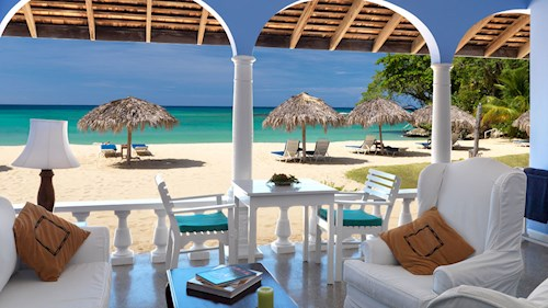 Jamaica Inn, Jamaica - Beach View from Premier Verandah Suite