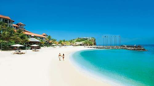 Sandals LaSource Grenada - White Sand Beach