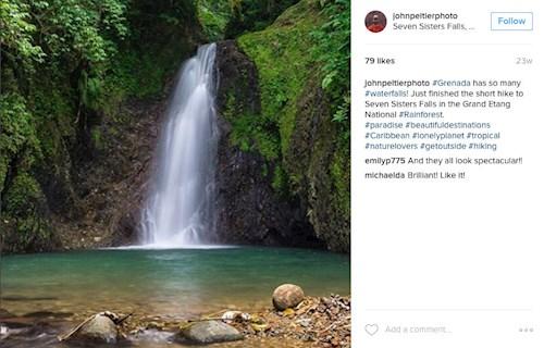 Seven Sister Falls, Grenada (Instagram johnpeltierphoto)