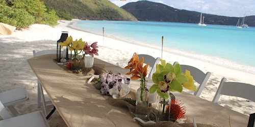 Guana Island British Virgin Islands Beach Lunch
