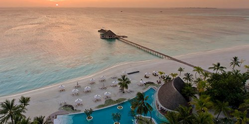 Kanuhura Maldives Sunset View Aerial